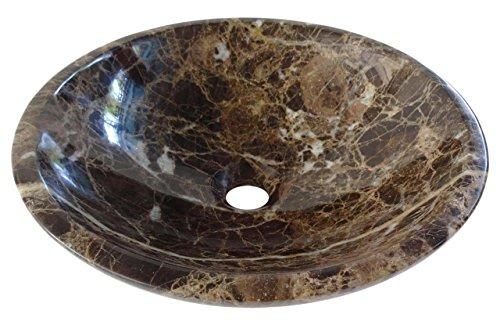 Emperador Braun Marmor (Spanisch dunkel braun Emperador Natur Marmor Becken Waschtisch 40cm x 13cm (DEB0038))