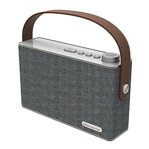 Monstercube MC52 Bluetooth Enceinte / haut-parleur Bluetooth sans fil Enceinte stéréo avec microphone pour les téléphones et les autres appareils équipés Bluetooth
