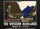 World of Art Vintage Travel Schottland für die Western