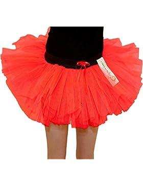 Islander Fashions Girls 3 strati TUTU Gonne per bambini 80s Dance Party Fancy Dress Accessory Gonna 5-10 anni