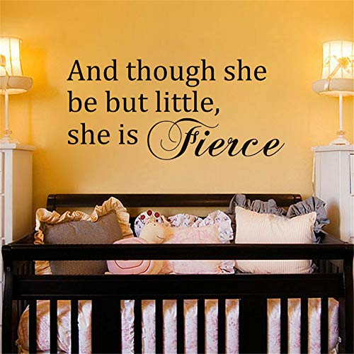 Wandtattoo Kinderzimmer Wandtattoo Wohnzimmer Sie ist heftig Shakespeare inspirierend Sprichwort-Mädchen-Raum-Dekor für nirsery Kinderraum (Mädchen-raum-dekor Disney)