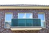 78729 Smart Deko 0,9x6m Dunkelgrün Balkonsichtschutz, Balkonverkleidung, Windschutz, Sichtschutz und UV-Schutz für Balkon, Gartenanlagen, Camping und Freizeit (Dunkelgrün) (90x600cm)