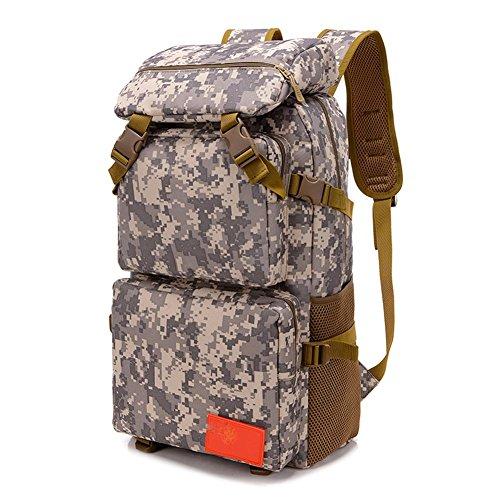 Rucksack 50L Hochleistungs Tactical Rucksack Camouflage Stil wasserdicht täglich Wandern Outdoor Rucksack acu