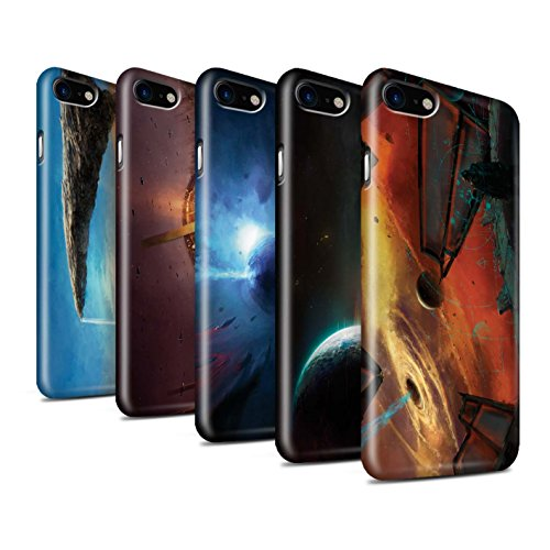 Offiziell Chris Cold Hülle / Glanz Snap-On Case für Apple iPhone 7 / Exoplanet Muster / Galaktische Welt Kollektion Pack 6pcs