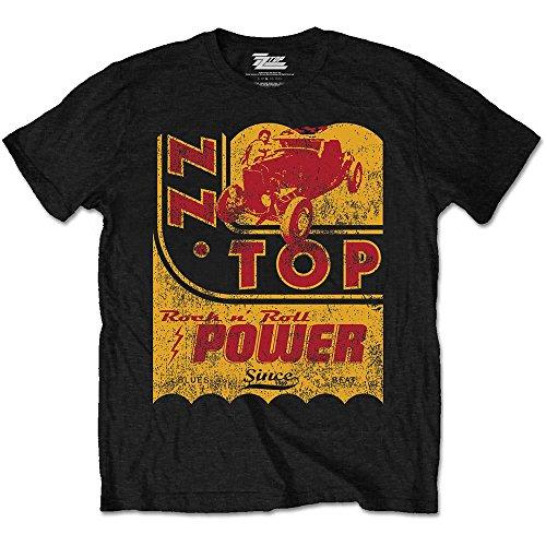 Preisvergleich Produktbild ZZ Top Herren Kurzarm Shirt Speedoil, Schwarz (Black), (Herstellergröße: Medium)