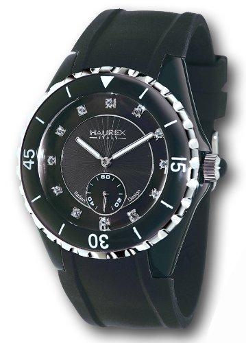 Haurex Italy - 1N337DNS - Montre Femme - Quartz - Analogique - Bracelet Caoutchouc noir