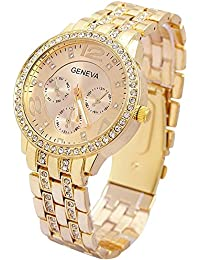48f9de363112 Contever Geneva Reloj de Cuarzo para Mujer Reloj de Pulsera de Moda  AnalóGico Diseño Unisex