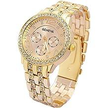 c849670e8571 Contever Geneva Reloj de Cuarzo para Mujer Reloj de Pulsera de Moda  AnalóGico Diseño Unisex