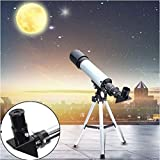 LUKZER 90X High Power Refractor Monocular Astronomical Telescope for Kids with Portable Tripod