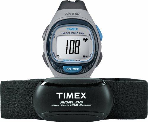 Preisvergleich Produktbild Timex T5 K738 Herzschlagmonitor – Herzfrequenz Monitor (30 m,  CR2025,  Schwarz,  Blau,  Grau)