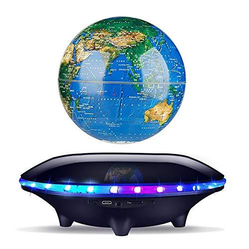 BUY-TO Drahtlose Lautsprecher Schwimmende 3D Erde Tragbarer Bluetooth-Player Weihnachten Geburtstagsgeschenk für Kinder,Black