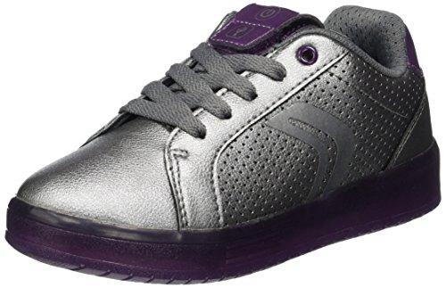 Geox J Kommodor A, Zapatillas para Niñas, Plateado (Dk Silver/Prune), 33 EU