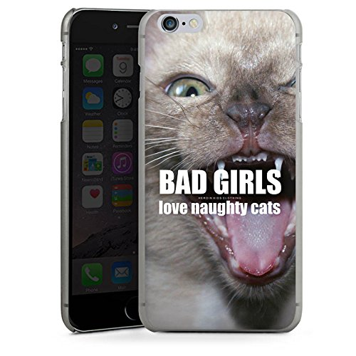 Apple iPhone X Silikon Hülle Case Schutzhülle Katze Cat Mädchen Hard Case anthrazit-klar
