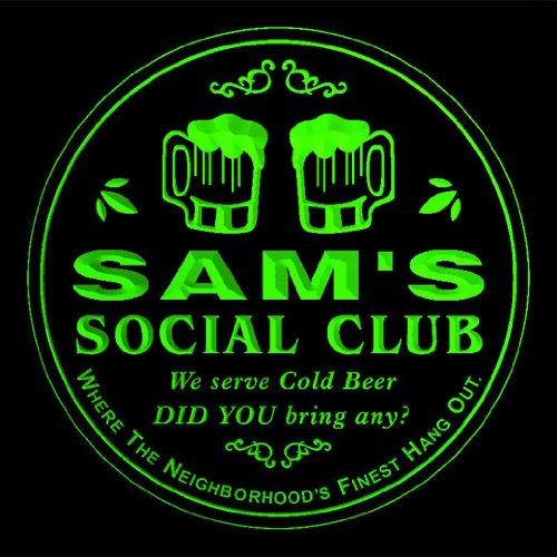 4x-ccpz0192-g-sams-social-club-bar-beer-3d-engraved-drink-coasters