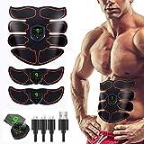 GoYun EMS Elektrostimulation Muskel Trainer,Bauchmuskeltrainer,Muskelstimulator,USB Wiederaufladbar Elektrostimulatoren Massagegerät,Stärkung der zentralen seitlichen Bauchmuskulatur
