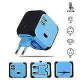 Travel Adapter Elektrische Stecker Sockets Converter mit Dual USB Ladekabel 2,4 A LED-Betriebsanzeige Elektrische Stecke
