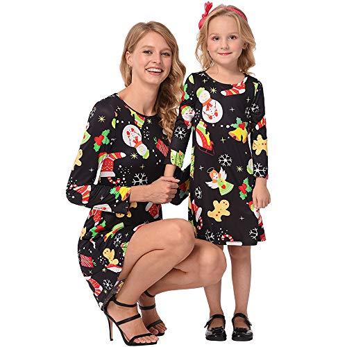 Riou Weihnachten Baby Kleidung Set Kinder Pullover Pyjama Outfits Set Familie Weihnachten Mama...