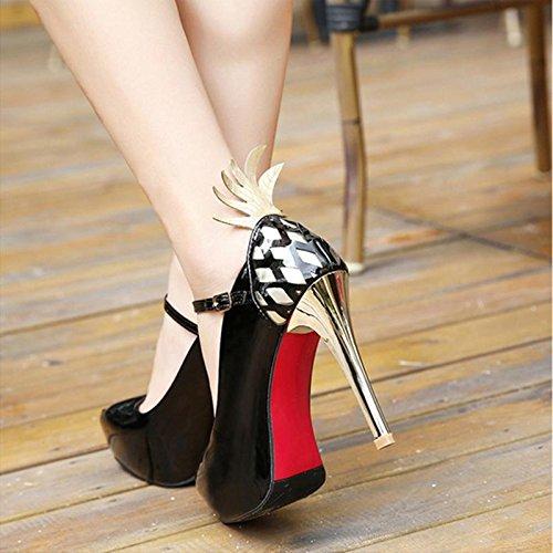 MZG Scarpe da donna con scarpe superiori e impermeabili in pelle di alta qualità e impermeabili in pelle femmina 2
