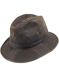 79cf7a3315241 Sombrero Fedora Safari Impermeable algodón de Dorfman-Pacific-Marrón