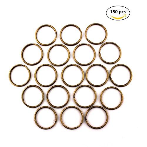 RUBY Anillas para Llaves, Color Metal/Bronce. 120 unids. Envio urgente Gratis