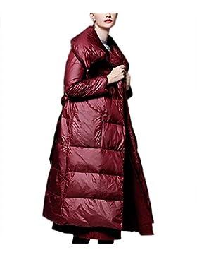 Las señoras de las mujeres abajo de la chaqueta sobre la rodilla outwear engrosamiento de la capa de algodón gran...