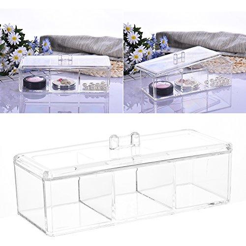 Acrylic Transparente Cosmetic Organiser Make up Organizer Lippenstiftständer Jewellery Display Storage Box Baumwoll Cotton Ball Baumwolle Pads Organisator Holder Molie (Acrylic Ball Cotton Holder)