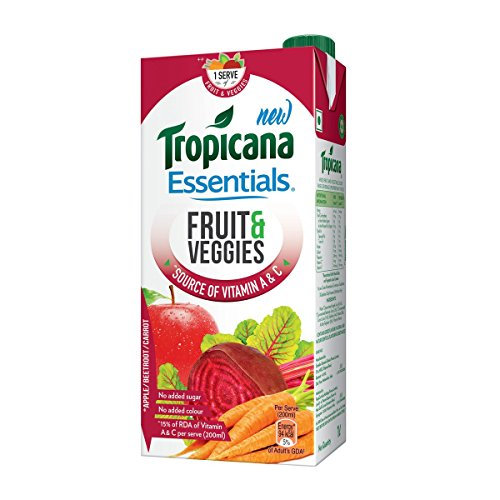 Tropicana Essentials, Fruits and Veggies, 1L