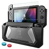Custodia Switch Nintendo con protezione per schermo in vetro temperato di alta qualità Custodia protettiva in gomma resistente per TPU con assorbimento degli urti e anti-graffio