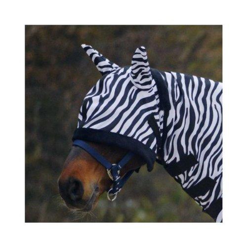 Waldhausen Fliegenmaske Zebra, WB, schwarz/weiß, Warmblut