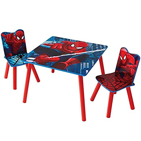 Marvel Spider-Man Kids Table and 2 Chair Set by