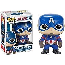 Capitán América - Pop Vinyl: Civil War, figura de acción (Funko FUN7223)