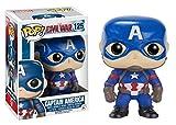 Funko 024517 Pop Marvel Civil War Captain America 125 Bobble-Head Figure