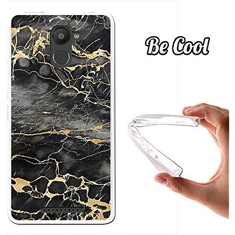 Becool® - Funda Gel Flexible para Bq Aquaris U Plus, Carcasa TPU fabricada con la mejor Silicona, protege y se adapta a la perfección a tu Smartphone y con nuestro exclusivo diseño. Mármol Negro y