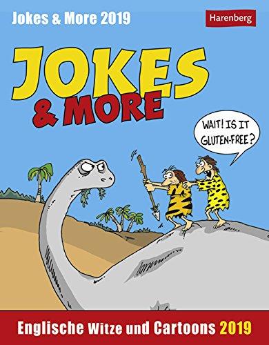 Jokes & More - Englische Witze und Cartoons - Kalender 2019 - Harenberg-Verlag - Tagesabreißkalender mit britischem Humor - 12,5 cm x 16 cm