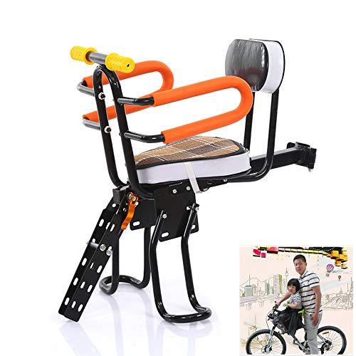FEZBD Sicherheit Kindersitz Vorne Montieren Kind Fahrradsitz Kinder Sattel Elektrische Fahrrad Kinder Sicherheit Vordersitz Sattel Kissen -