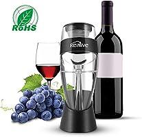 Decanter, Kealive Vino decanter per Vino Rosso Vino Bianco Versatore Aerazione con Base