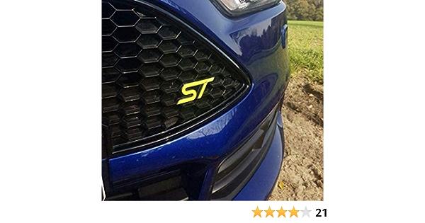 Focus St Mk3 Gel Embleme Inlay Front Heck Freie Farbwahl Gelb Auto