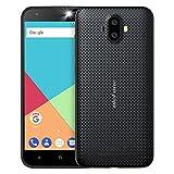 Ulefone S7 3G smartphone ohne vertrag günstig android 7.0 5,0 Zoll HD 1280x720P MTK6580 1.3GHz Quad Core Dual SIM 1GB RAM+8GB ROM 128GB TF Karte Kapazität 8MP+5MP+5MP Kameras(Schwarz)