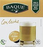 Cafés Baqué, Cápsulas de café (Con leche, compatible con Dolce Gusto) - 4 de 10 Cápsulas...