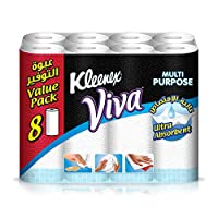 Kleenex Viva Kitchen Towel Rolls - Pack of 8 Rolls (8x40 Sheets x2 Ply)