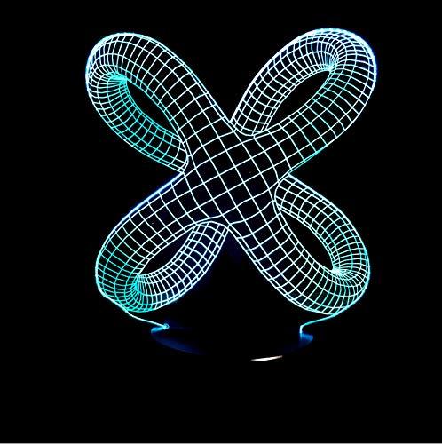 Luci notturne nodo di forma 3d abstract graphics illusion lampada led night light acrilico lamparas atmosfera lampada novità illuminazione home decorare