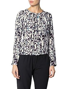Jacques Britt Damen Bluse Seide Blusenshirt Gemustert, Größe: 34, Farbe: Multicolor