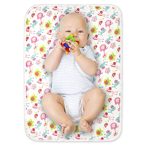 Alfombrilla de cambio de bebé portátil, impermeable, 2 unidades, 50 cm x 70 cm