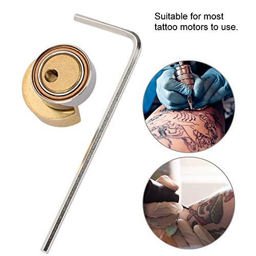 Salmue Tattoo Rotary Machine Pen Zubehörteil, Eccentric Wheel für Tätowierungs Maschinen, Justierbares direktes Motorantrieb Nocken Exzenter