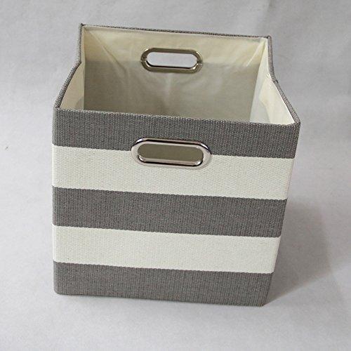 Aufbewahrungsbox Schublade Schubladen Würfel mit Fingerhole 28 * 28 * 28 cm Metall Griffe Durable und langlebig (Farbe : 2) (Leinwand-storage-würfel)