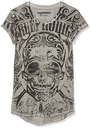 Black Skull Jeans (trueprodigy Herren Black Skull Vintage T-Shirt, Grau (Darkgrey 5203), Medium (Herstellergröße: M))