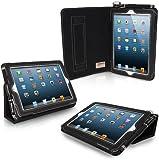 Snugg iPad Mini & Mini 2 Case - Smart Cover with Flip Stand & Lifetime Guarantee (Black Leather) for Apple iPad Mini & Mini 2 with Retina