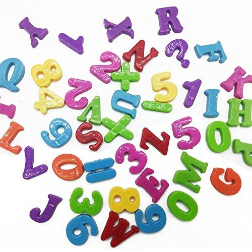 BY channeltoys- Videoleuchte Set Magnet lehrreich Alphabet Zahlen & Buchstaben magnetisch-Nummern & Magnetbuchstaben Baby Kinder lernen Kühlschrank Puzzles Spielzeug für Kinder Spiel Geschenke (Kühlschrank-magnete Lernen)