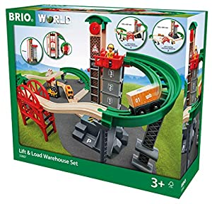 BRIO Set almacén con montacargas (33887), Multicolor (RAVENSBURGER