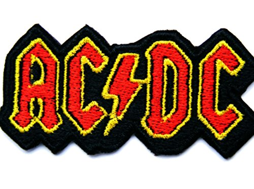 coolpart ACDC AC/DC Music Band Logo Patch Rock Heavy Metal Punk Musik Band Logo Patch Sew Iron on gesticktes Badge Schild Kostüm Geschenk perfekt Patches (Gesticktes Band)